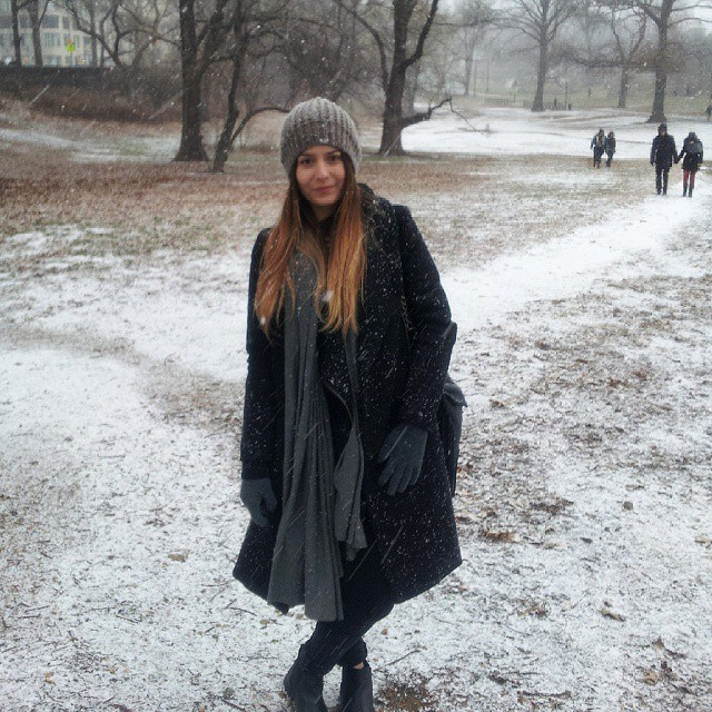 BRITT SEES SNOW FOR FIRST TIME ... IN CENTRAL PARK NYC