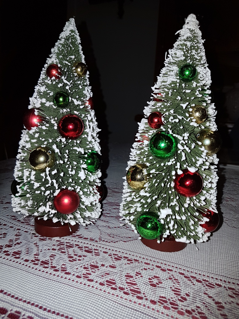 Two Little Christmas Trees